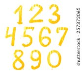 set of ten number digit... | Shutterstock . vector #257372065