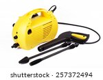 pressure washer   car wash  ... | Shutterstock . vector #257372494