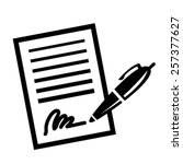 paper business contract pen...   Shutterstock .eps vector #257377627