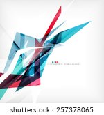 angular geometric color shapes  ... | Shutterstock .eps vector #257378065