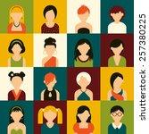 sixteen of icons. avatar set of ... | Shutterstock .eps vector #257380225