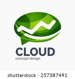 modern cloud company logo... | Shutterstock . vector #257387491