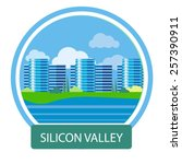 silicon valley sign. office... | Shutterstock .eps vector #257390911