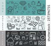 set of web icons for business ... | Shutterstock .eps vector #257396731
