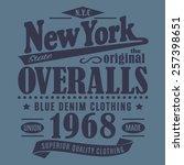 denim new york typography  t... | Shutterstock .eps vector #257398651