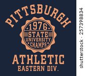 athletic sport typography  t... | Shutterstock .eps vector #257398834