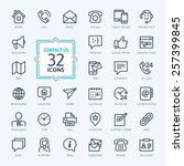 outline web icons set   contact ... | Shutterstock .eps vector #257399845