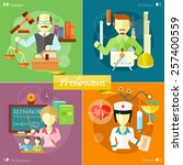 doctor  nurse  hospital doctor  ... | Shutterstock .eps vector #257400559