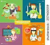 doctor  nurse  hospital doctor  ... | Shutterstock .eps vector #257400559