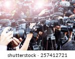 press and media  photographer... | Shutterstock . vector #257412721