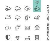 cloud computing icons. vector... | Shutterstock .eps vector #257422765