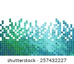 abstract square pixel mosaic... | Shutterstock .eps vector #257432227