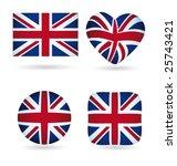 english flags vector collection   Shutterstock .eps vector #25743421