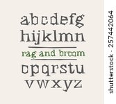 rag and broom hand drawn font | Shutterstock .eps vector #257442064