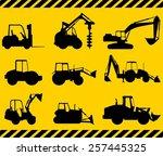 silhouette illustration of... | Shutterstock .eps vector #257445325