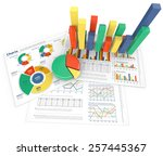 analyze. colorful infographics... | Shutterstock . vector #257445367