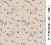 seamless floral pattern flower...   Shutterstock .eps vector #257448874