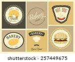 fast food design elements | Shutterstock .eps vector #257449675