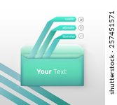 bright turquoise envelope and... | Shutterstock .eps vector #257451571