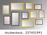 silver gold brown frame vector... | Shutterstock .eps vector #257451991