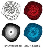 Set Of 4 Isolated Abstract...