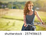 Sexy Woman With Vintage Bike I...