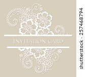 vector lace card. vintage white ... | Shutterstock .eps vector #257468794