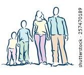 family | Shutterstock .eps vector #257470189