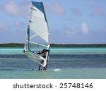 wind surfer in the tropics | Shutterstock . vector #25748146