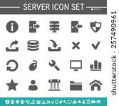 server simple black icons