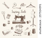 vector set of highly detailed... | Shutterstock .eps vector #257524591