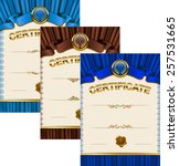 set of elegant templates of... | Shutterstock .eps vector #257531665