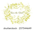 save the date card. floral... | Shutterstock .eps vector #257544649