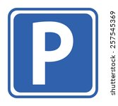 parking sign | Shutterstock .eps vector #257545369