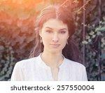 outdoor fashion stunning...   Shutterstock . vector #257550004