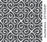 seamless pattern of the stylish ... | Shutterstock .eps vector #257553439