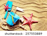 colorful toys for child... | Shutterstock . vector #257553889