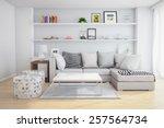 3d rendering of interior of a... | Shutterstock . vector #257564734