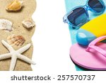 accessories for the beach and... | Shutterstock . vector #257570737