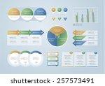 info graphic elements  vector... | Shutterstock .eps vector #257573491