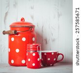 Red Polka Dot Vintage Kitchen...