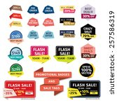 promotional badges and sale... | Shutterstock .eps vector #257586319