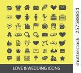love  wedding  romance  family... | Shutterstock .eps vector #257588821