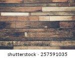 Old Hard Wood Plank Wall...