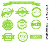 eco  nature  organic green... | Shutterstock .eps vector #257593015