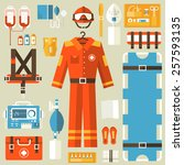medical rescue uniform and set...   Shutterstock .eps vector #257593135
