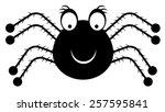 black  isolated  smiling spider ...   Shutterstock .eps vector #257595841