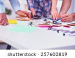 young business people working... | Shutterstock . vector #257602819