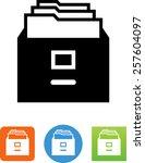 file cabinet symbol    Shutterstock .eps vector #257604097