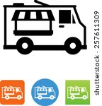 food truck icon | Shutterstock .eps vector #257611309